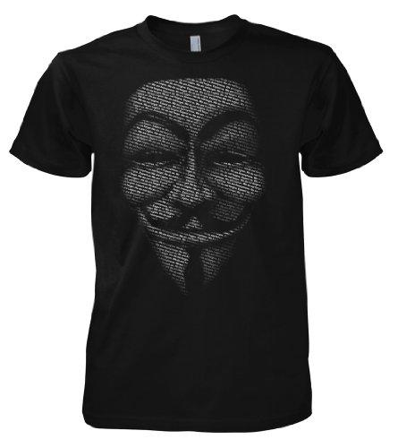 Geek Hacker - Anonymous Slogan Mask 701475 T-Shirt M