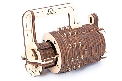 UGEARS Candado de Combinaciones - Puzzle de Madera 3D -Cerradura de Combinación...