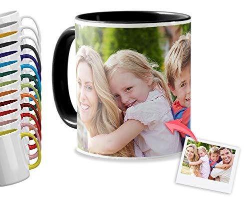 Tazas Personalizadas con el Interior y asa de Color   Diséñalas con Fotos y...