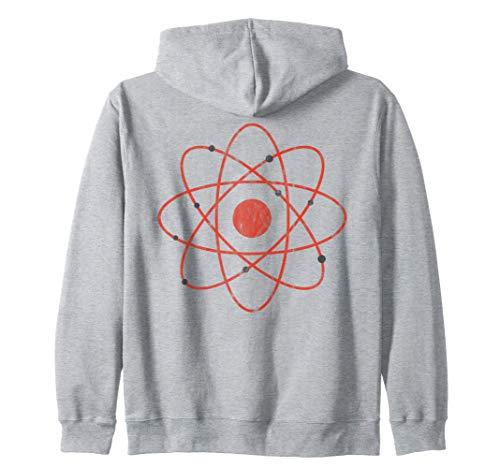 Nerd nucleare atomico dell'atomo dell'annata retrò Sudadera con Capucha