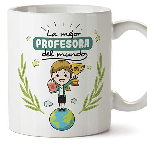 MUGFFINS Taza Profesora (Mujer) - La Mejor Profesora del Mundo - Regalos...