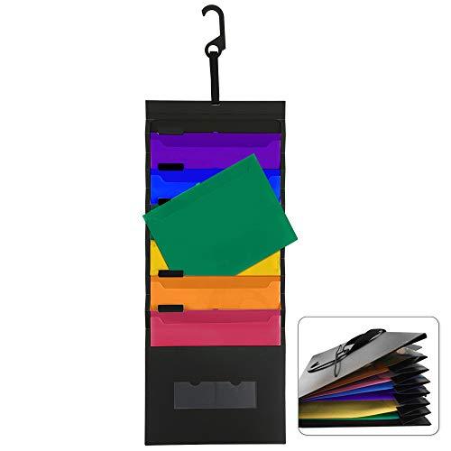 Carpetas Pared Organizador de Archivos de Plástico A4 Plegable a Impermeable...