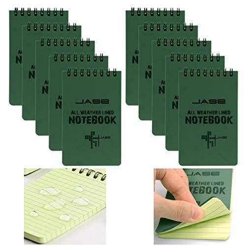 10 Paquetes Cuaderno Resistente Al Agua Para Todas Las Condiciones Climáticas,...