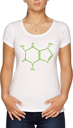 Cafeína Molécula Camiseta Mujer Blanco