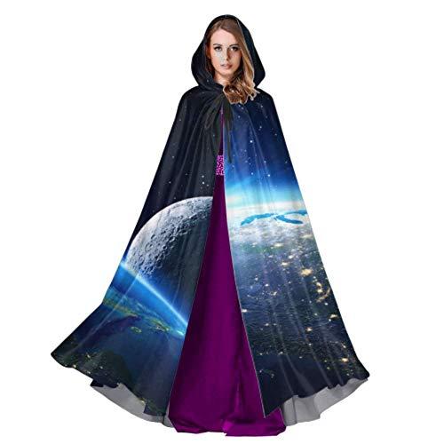 Yushg Escena del Universo con Planetas Mujeres Capa con Capucha Capa para...
