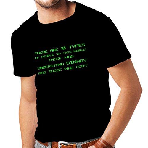 lepni.me Camisetas Hombre Tipos de Personas Que Entienden el código Binario,...