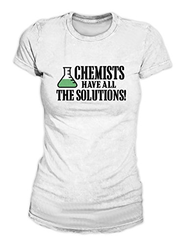 Chemists Have All The Solutions Pun Chemistry Science School T-Shirt Camiseta...