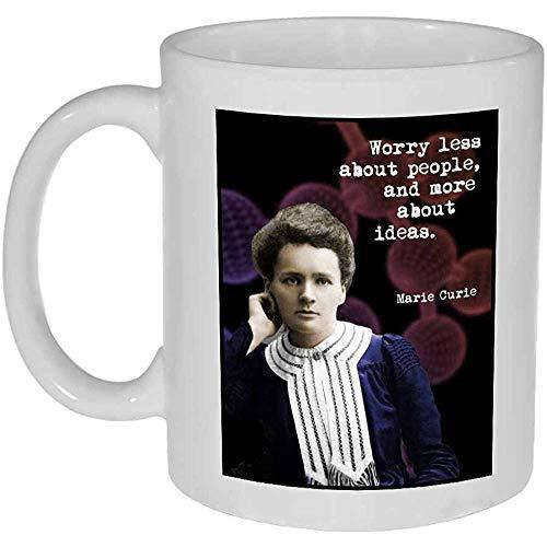 Imagen y cita de Marie Curie Taza de café o té
