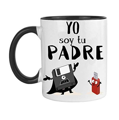 FUNNY CUP Taza Dia del Padre. Yo Soy tu Padre. Regalo Divertido para su día....