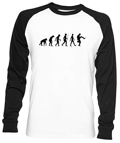 Evolución De Hombre Unisex Hombre Mujer Béisbol Camiseta Blanco Unisex...