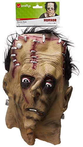 Smiffys-24090 Halloween Careta de Monstruo, para la Cabeza, látex, Color...