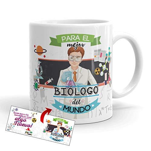 Kembilove Taza de Café para el Mejor Biólogo del Mundo – Taza de Desayuno...