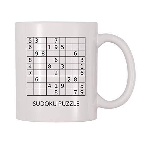 Taza con Sudoku Que se puede Resolver. Con Rotulador y Borrador.