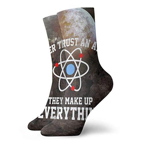 Be-ryl Nunca confíes en un átomo Lo inventan Todo Ciencia Novedad Calcetines...