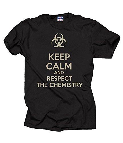 Milky Way Tshirts Hombres Mantener la Calma y respetar la Química Químico de...