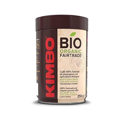 Kit de Paquetes de Café Molido Bio Orgánico de Comercio Justo Kimbo - 4 Latas...