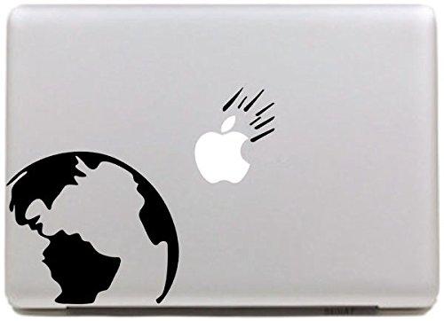 Vati Hojas desprendibles Creativo Skin and Earth Sticker Decal Arte Negro para...