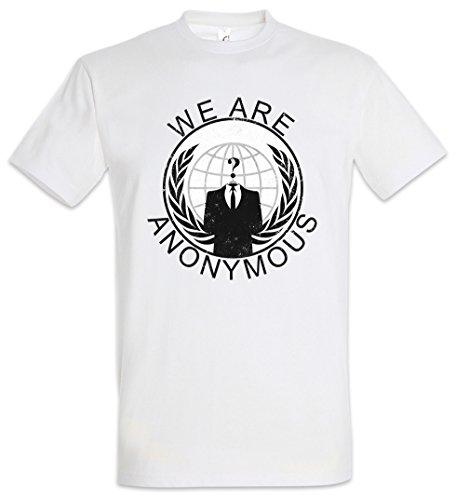 Urban Backwoods Anonymous Vintage Globe Logo Camiseta De Hombre T-Shirt Blanco...
