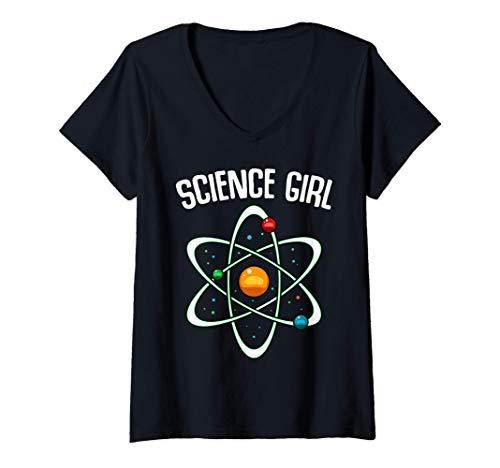 Mujer Science Girl Física Química Científica Estudio Molecular Camiseta...