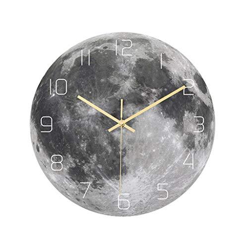 LIUSHI Reloj de Pared en Forma de Luna Retro Pared Reloj decoración 11.8...