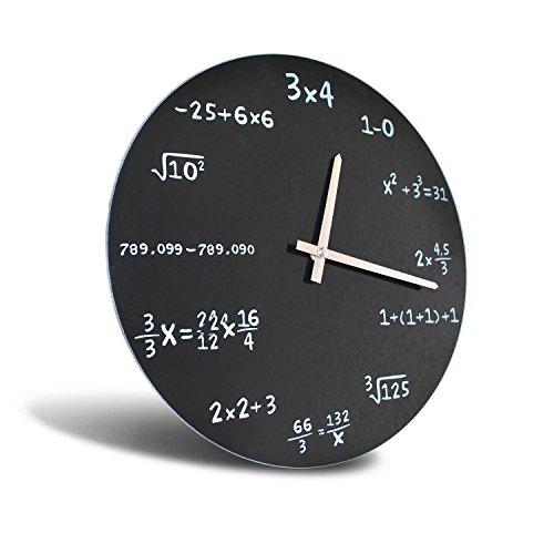 Reloj de pared, diseño de operaciones matemáticas
