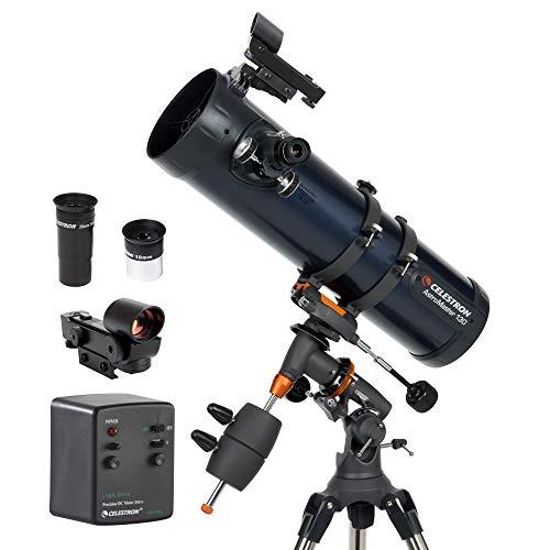 Celestron AstroMaster 130EQ-MD, Telescopio con Motor para Seguimiento...