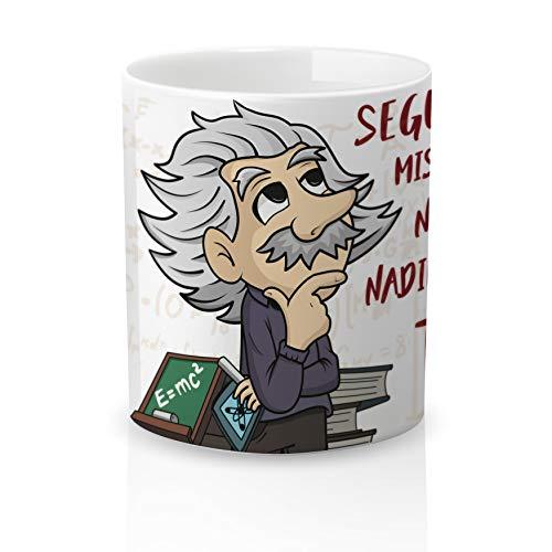 Yujuuu! | Taza cerámica Original Amor Pareja Einstein. Resistente 100% al...