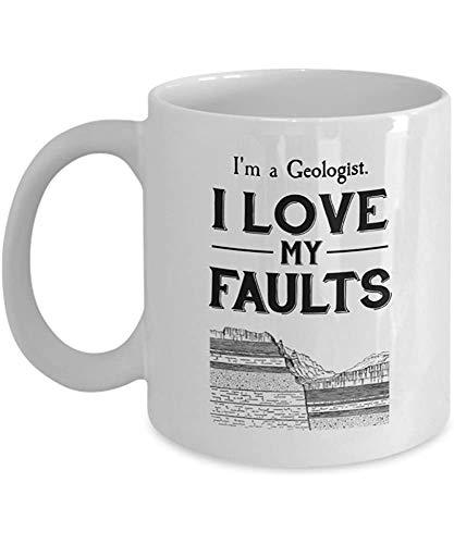 Soy geólogo. Amo mis defectos - geología taza
