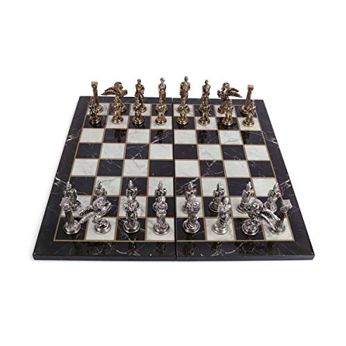 GiftHome Juego de ajedrez de metal de Pegaso para adultos, piezas hechas a mano...