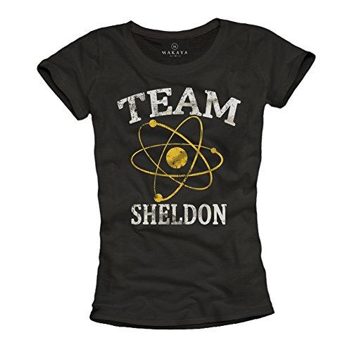 Team Sheldon - Camiseta Negra para Mujer - Big Bang Theory S