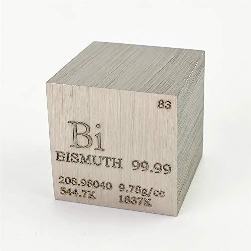 Cubo de metal de bismuto de 25,4 mm, 160 g, 99,99% grabado, tabla periódica de...