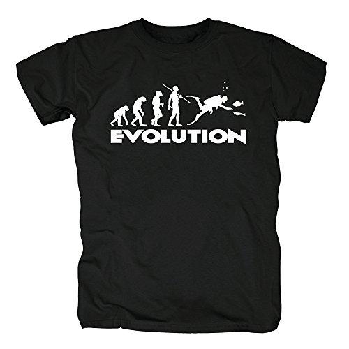 TSP Buceo de la evolución Camiseta para Hombre T-Shirt XXXXL Negro