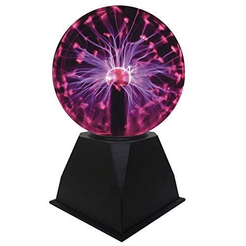 Luz de Bola de Plasma, Lámpara de Esfera de Iones Bola Sensible al Tacto de 5...