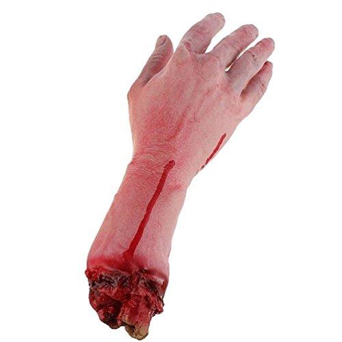 Keersi Brazo humano realista de látex Gory tamaño de la vida de la mano...