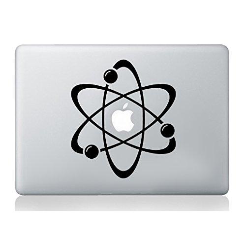 Átomo pegatina de portátil macbook decal art manzana tableta piel silueta...