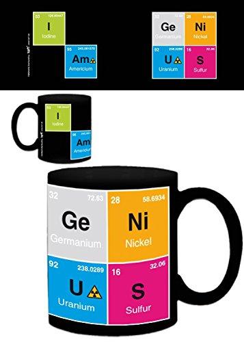 1art1 Humor, I Am Genius, YODO, Americio, Germanio, Níquel, Azufre Taza Foto...