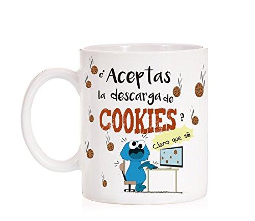 MardeTé Taza ¿Aceptas la Descarga de Cookies? Claro Que si. Taza Regalo para...