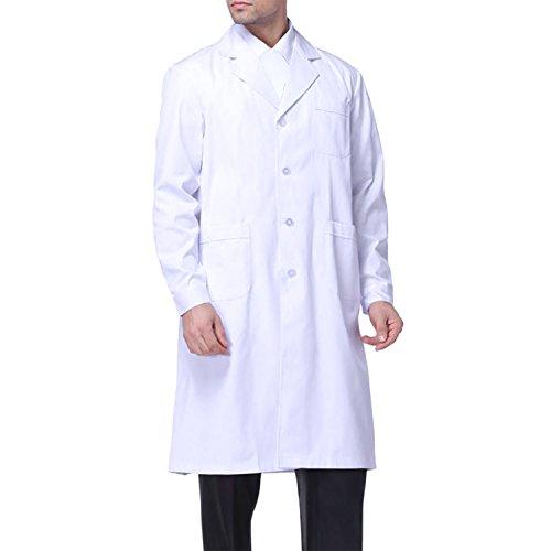 Sasairy Unisex Bata Médico Manga Larga Bata de Laboratorio Enfermera Sanitaria...