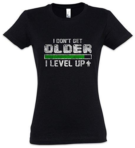Urban Backwoods I Don't Get Older I Level UP Mujer Girlie Women T-Shirt – Larp...