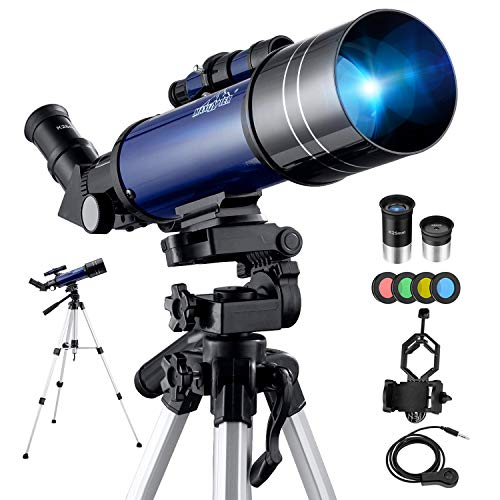 Telescopio Astronómico Kit Completo Pro 40070MM Potente Telescopios HD...