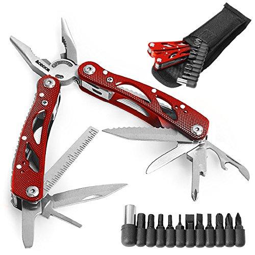 Aodoor 24 en 1 plegables alicates multi de la herramienta, Multiherramienta de...