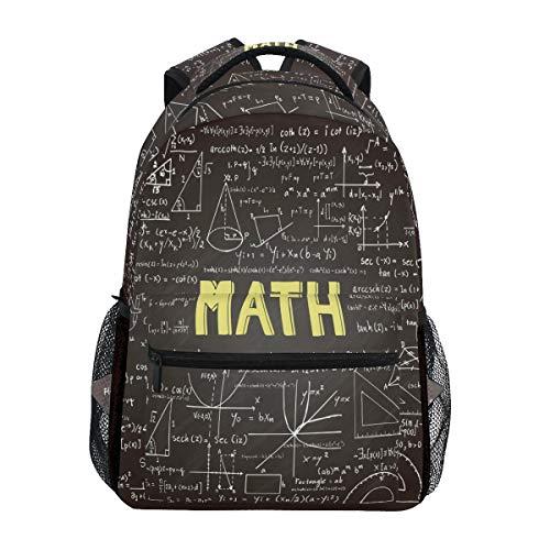 Fórmula matemática Mochila Escolar para niños niñas niños Bolsa de Viaje...