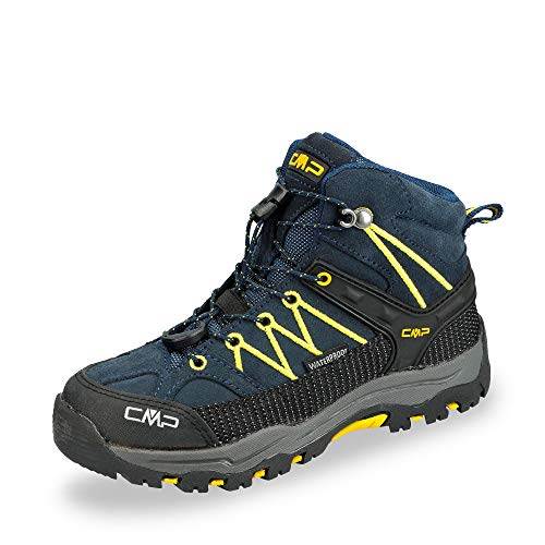 CMP Rigel Mid, Zapatos de High Rise Senderismo Unisex niños, (B.Blue-Zafferano...