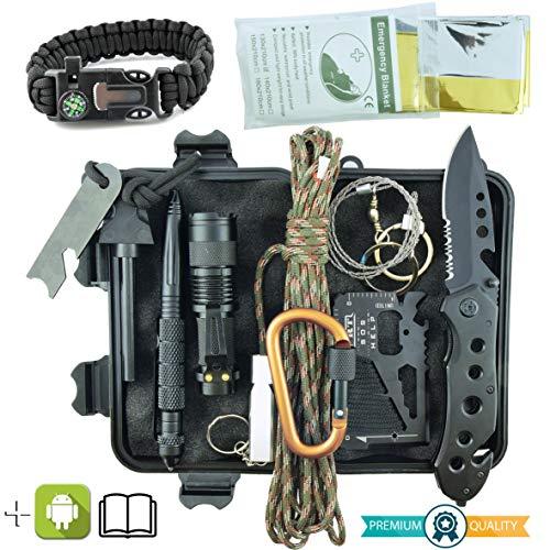 Kit de Supervivencia Militar Profesional de Tercera Generación Emergencia...