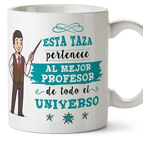 MUGFFINS Taza Profesor (hombre)-'El Mejor Profesor del Universo' - Taza de...