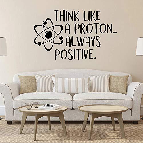 Piensa como un protón pegatinas de pared siempre positivas ciencia citas...