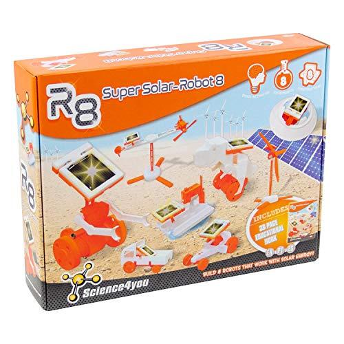 Science4you-R8 Años R8 Super Solar Robot-Robotica, Juguete Cientifico, 8...