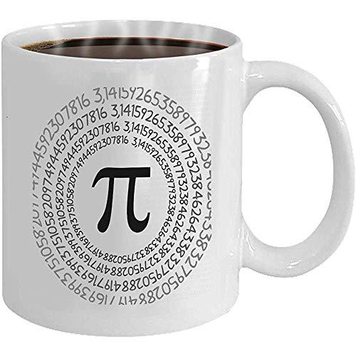 Taza de café símbolo pi número matemático constante irracional c