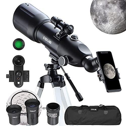 ESSLNB Telescopio Astronomico 40080 Telescopio Astronomico Profesional con 10X...