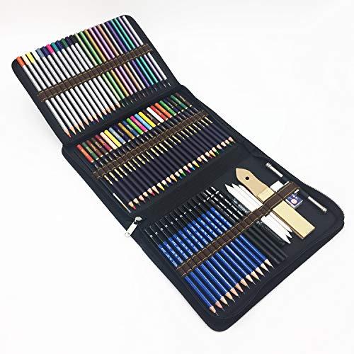 72 Piezas Set Lápices de colores profesional Con Lapices De Dibujo,Lapices...